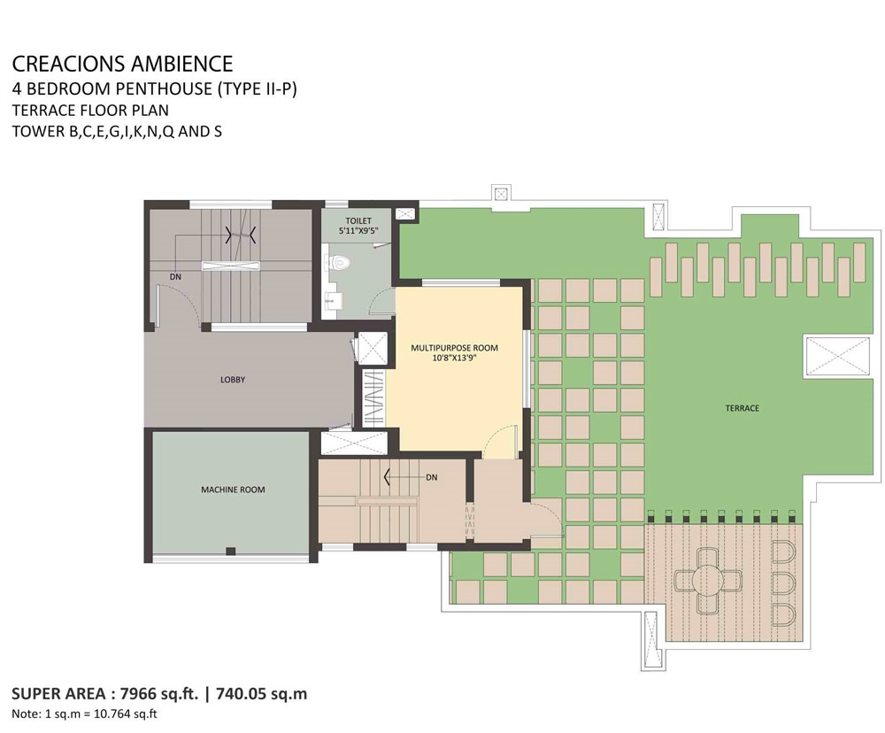 4BHK Penthouse-terrace-floor Tower-B-C-E-G-I-K-N-Q-S