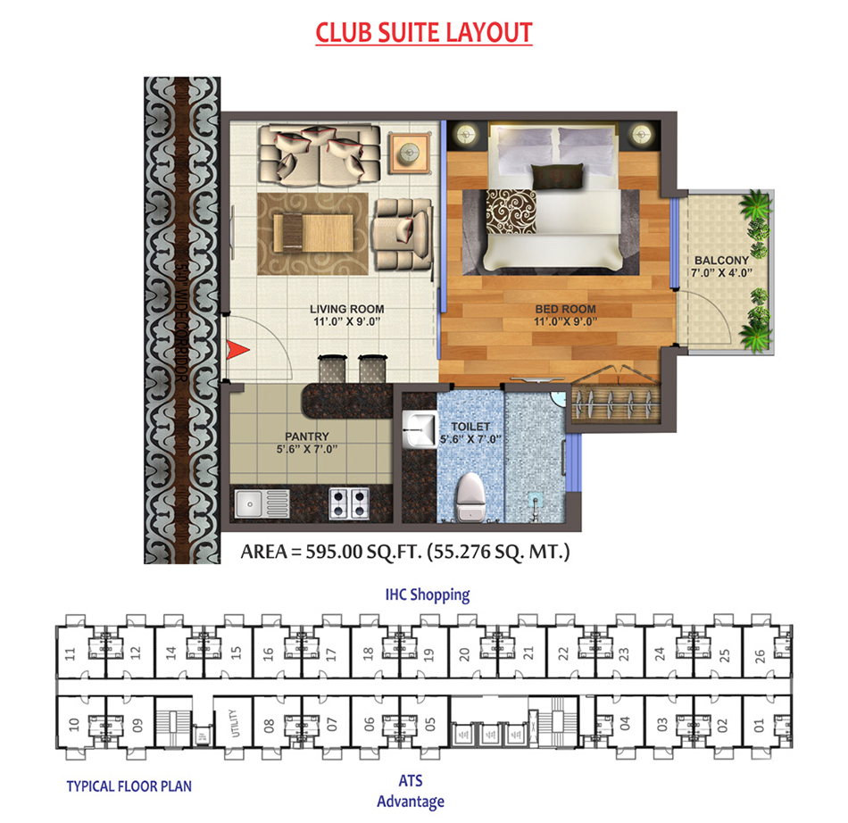 Luxury Studio Apartment Floor Plan
