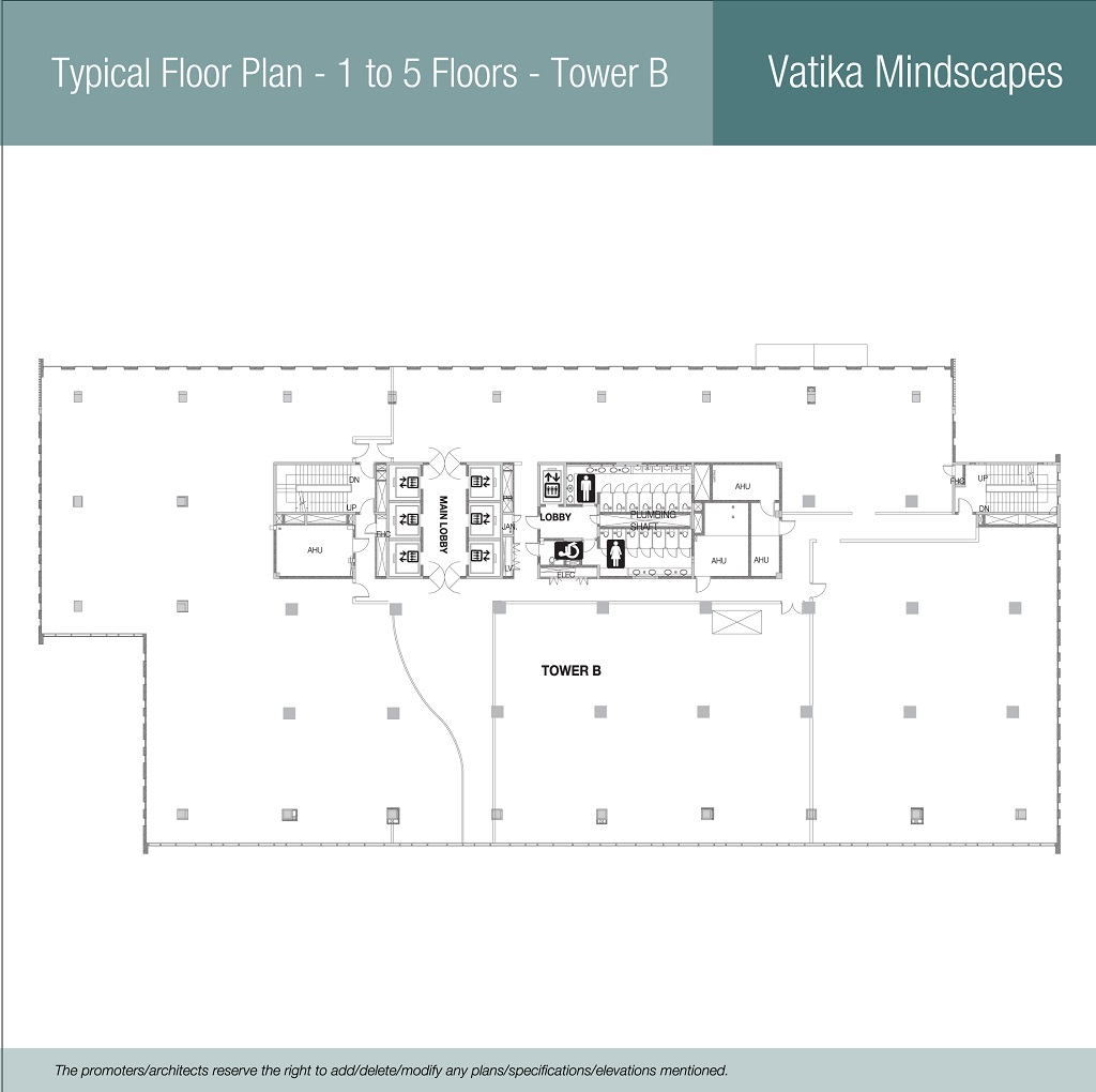 Typical Floor Plan - 1 to 5 floors - Tower B